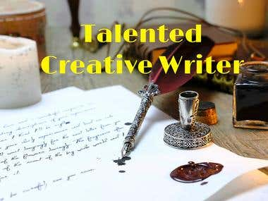 Talented Creative Writer!