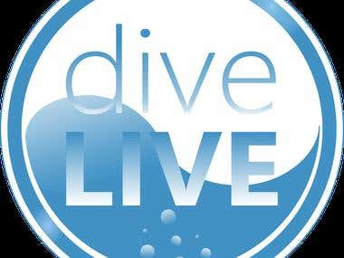 Logo for dive water company