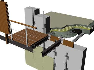 Thermal bridge solution on a 3D architecture design
