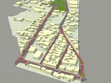Trafic road urban planning