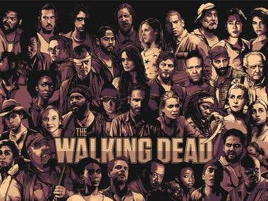 The Walking Dead Cast poster for AMC