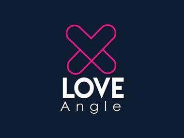 Minimalist Love Angle Logo Design