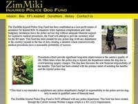 Website - ZimMiki Injured Police Dog Fund