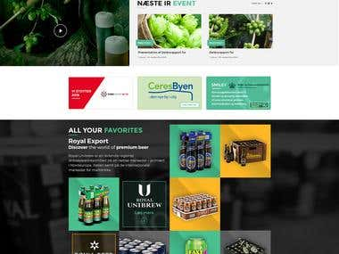 Royal Unibrew | Website Design