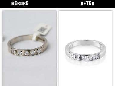 Jewelry high end retouch