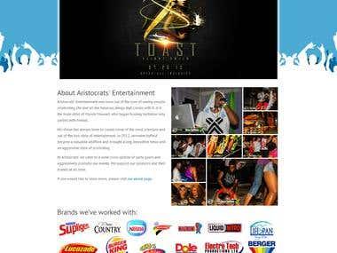 Responsive Wordpress theme for Artistocrats Entertainment