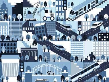 City of Sydney digital illustration