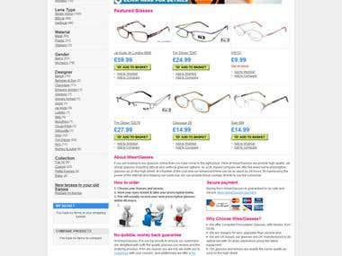 iWear glasses- Ecommerce Website