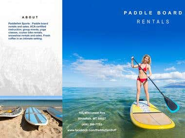 Paddle Board Leaflet - Example
