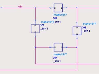High frequency circuit simulation in ADS