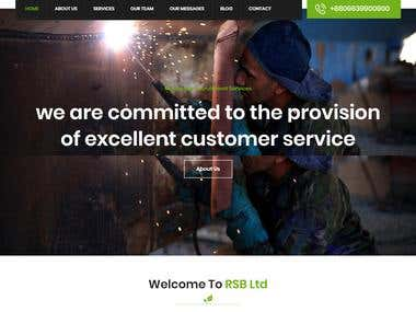Recruitment Company Website Made with Wordpress