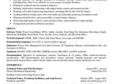 Technical writing, articles etc..