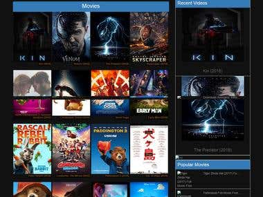 Wordpress Movie Related Full Site Developing