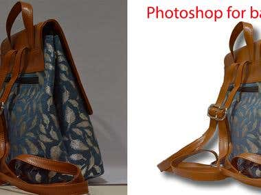 Photoshop for bag shoot