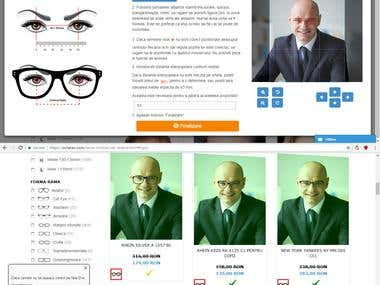 Virtual Glasses Try-On based on Facial Landmark Detection