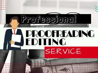Editing/ Proofreading