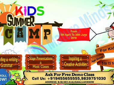 Banner And Flyer Designs For Kids Summer Camp