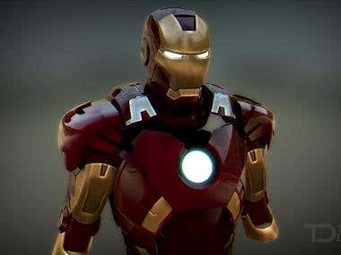Ironman Mark VII 3D render