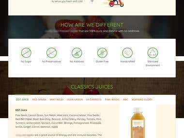Order Juices online (highly customised website)