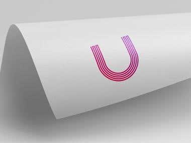 monogram logo design.