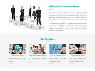 Communikeyz WordPress based site