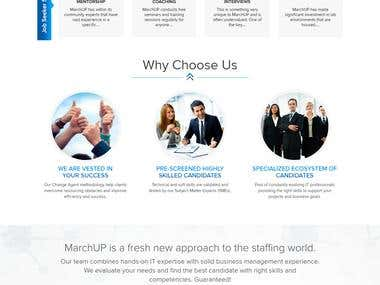 Staffing solution and Job seeker services website