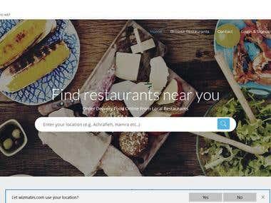 Online Food ordering App and website