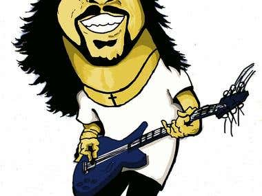 Dave Ghrol caricatura