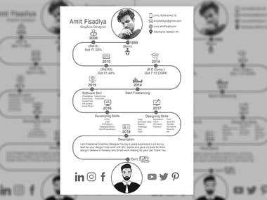 Info-graphics Resume Design