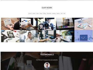 Webzone IT services website