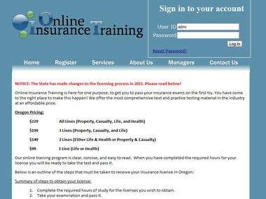 Online Insurance Training