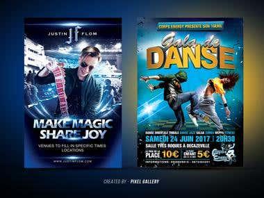 Music & Dance event flyer