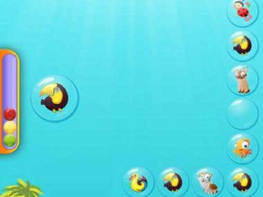 Learning Bubble 2D Game