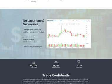 Crypto's currency Trading Wallet Website
