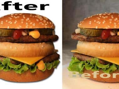 Fast Food Item Editing & Retouching