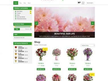 Fashion Flower shopping App: PrestaShop(CMS)