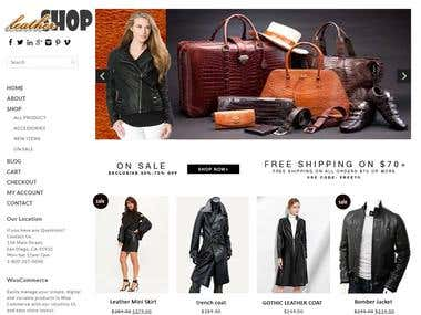 Leather shop Web APP: Joomla