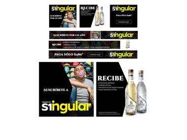 Singular magazine ads