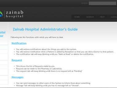 Hospital Management Website