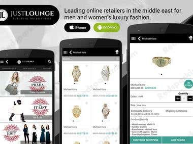 Just Lounge E-commerce App
