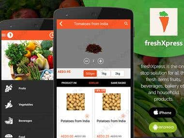 FreshXpress E-commerce App