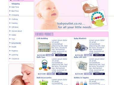 Ecommerce site selling baby products