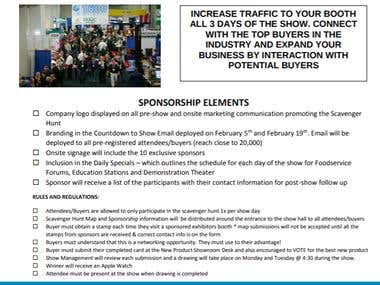 Sponsorship packages for trade show exhibition