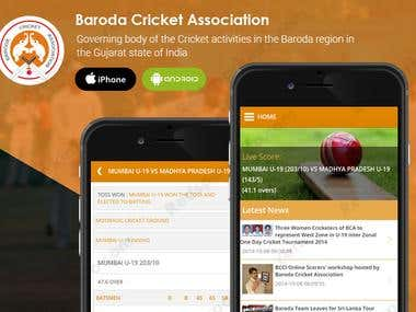 BCA(Baroda Cricket Association) App