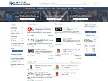 B2B project for companies exhibitors   TERRA-EXPO.com