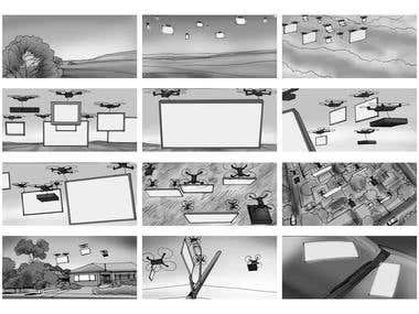 Storyboard for title sequence