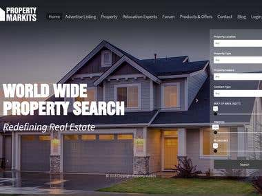 Landing Page Design for Property Markits