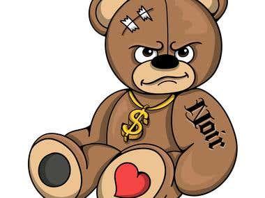 Bad Teddy Illustration