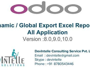 Odoo Dynamic Export Excel Report For all Application
