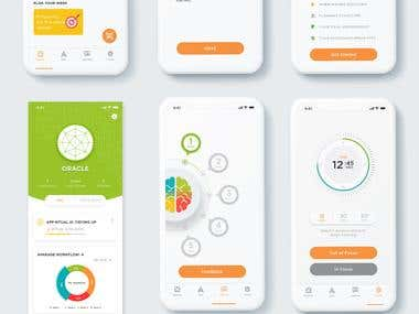 Mobile Screen UI Design Layouts